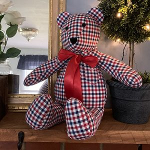 memory bear made from a loved one's shirt